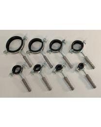 Metalen enkele buisbeugel met rubber inlage [Prijs per stuk]
