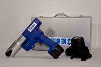Persmachineset LI-ON in koffer ZONDER persbekken (persmachine, batterij, lader) (230 V. (12V LI-ON) 12 till 75 ) [prijs per stuk]