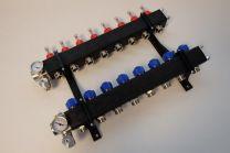 Collecteur composite, réglable avec débitmètres [Prix par set]