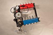 Collecteur composite, réglable avec Unitè pompe avec régulation de température constante et by-pass [Prix par set]