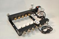Collecteur en acier, réglable avec active flow control sur boucle et régulation de température constante, pompe et by-pass [Prix par set]